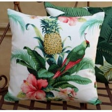 Cushion Cover - Beach Bounty Lush Green Indoor Outdoor Fabric Fabric Traders