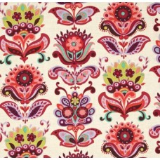 REMNANT - Bright Heart Folk Bloom Natural Cotton Fabric by Amy Butler Fabric Traders