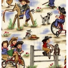 Lil  Cowgirl Blue by Michael Miller Fabric Traders