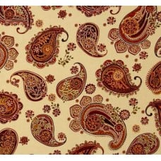 Odyssey Paisley Creme Cotton Fabric Fabric Traders