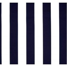 Stripe Finnigan Screen Outdoor Indoor Fabric in Navy Fabric Traders