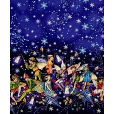 Flower Fairies Enchanted Fairies Twilight Cotton Fabric by Michael Miller Fabric Traders