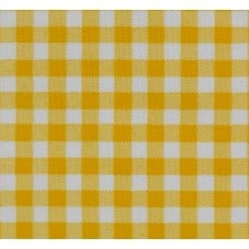 REMNANT - Mexican Oilcloth Laminated Fabric Gingham Yellow Fabric Traders