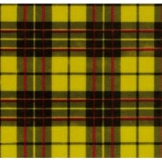 REMNANT - Mexican Oilcloth Laminated Fabric Glen Plaid Yellow 1 Fabric Traders