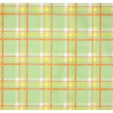 Mexican Oilcloth Laminated Fabric Plaid in Green Fabric Traders