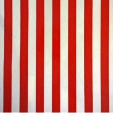 Mexican Oilcloth Laminated Fabric Stripes Red Fabric Traders