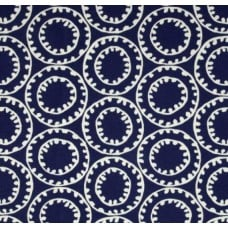 Ring a Bell Outdoor Polyester Fabric in Navy Fabric Traders