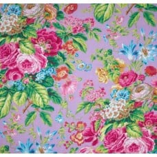 Floral Delight Lavender Cotton Fabric by Philip Jacobs Fabric Traders