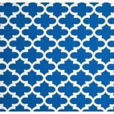 Fulton In White and Cobalt Home Decor Cotton Fabric Fabric Traders