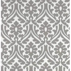 Holly Leaf Indoor Outdoor Fabric in Grey and White Fabric Traders