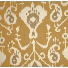 Ikat Java in Umber Barley Home Decor Cotton Fabric Fabric Traders