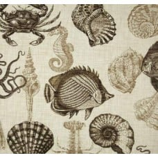 Sealife Outdoor Polyester Fabric in Driftwood Fabric Traders
