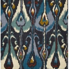 Ikat Bands Slub Indigo Home Decor Fabric by Robert Allen @ Home Fabric Traders