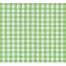 Gingham Cotton Fabric in Light Apple Green Fabric Traders