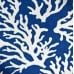 Coral Fayline Outdoor Fabric in Dark Blue Fabric Traders