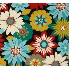 Floral Orlato Outdoor Fabric in Fiesta Fabric Traders