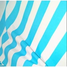 Stripe Outdoor Fabric Pale Blue and White Fabric Traders