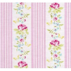 Zoey s Garden Butterfly Ticking Pink by Tanya Whelan Fabric Traders