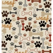Dogs Bones & Paw Prints Cotton Fabric by Timeless Treasures Fabric Traders