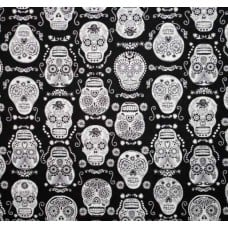 Glow in the Dark Skulls in Black by Timeless Treasures Fabric Traders
