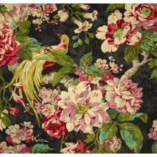Floral Engagement Twill Nightfall Home Decor Cotton Fabric Fabric Traders