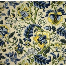 Imperial Dress Blue Home Decor Cotton Fabric by Waverly Fabric Traders