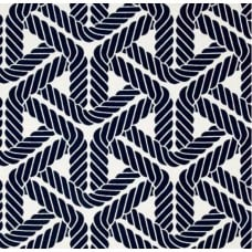 Topsail Trellis Sun N Shade in Navy Outdoor Fabric Fabric Traders