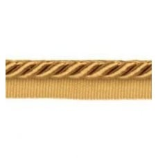 OFF CUT - Twisted Cord Trim with Piping Lip Old Gold 9mm per 90cm Fabric Traders