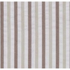 Seersucker Breakers Stripe Khaki Cotton Fabric Fabric Traders