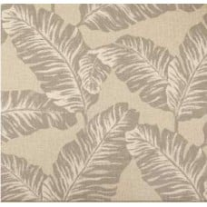 Chiquita Leaves in Taupe & Cream Linen Home Decor Cotton Fabric Fabric Traders