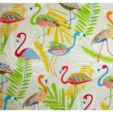 Go Flamingo Outdoor Fabric in Punch Fabric Traders