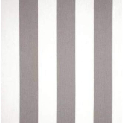 Grey White Striped Outdoor Fabric Fabric Traders