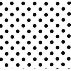 Jersey Knit Stretch Fabric Black Polka Dots on White Fabric Traders
