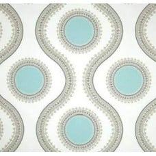 Medallions Twill in Canal Cotton Home Decor Fabric Fabric Traders