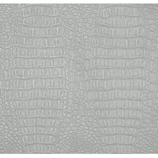 Metallic Gator Faux Leather in Silver Fabric Traders