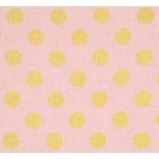 Metallic Glitter Dots Gold on Pink by Michael Miller Cotton Fabric Fabric Traders