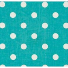 Polka Dot Home Decor Upholstery Cotton Fabric Turquoise Fabric Traders