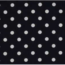Polka Dot Home Decor Upholstery Cotton Fabric White on Navy - OFFCUT  Fabric Traders