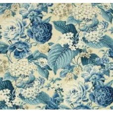Garden Party Sun n Shade Outdoor Fabric Porcelain by Waverly Fabric Traders