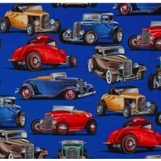 Little Deuce Coupes Cotton Fabric by Alexander Henry Fabric Traders