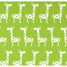 REMNANT - A Giraffe Families Green Home Decor Cotton Fabric