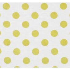 Metallic Glitter Gold Dots on White Cotton Fabric by Michael Miller Fabric Traders