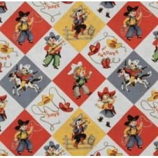Yippee Cowboy in Retro by Michael Miller Fabric Traders