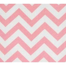 A Chevron Zig Zag Home Decor fabric in Baby Pink & White Fabric Traders
