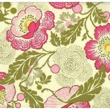 REMNANT - A Midwest Modern Fresh Poppies Fuchsia by Amy Butler Fabric Traders