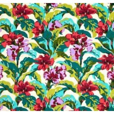 REMNANT - Bright Heart Canna in Coral Cotton Fabric by Amy Butler Fabric Traders