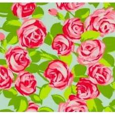 Love Tumble Roses Pink Cotton Fabric by Amy Butler Fabric Traders