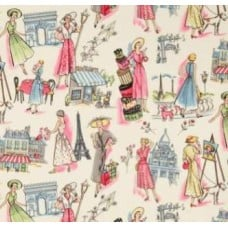 Springtimes in Old Paris Cotton Fabric by Michael Miller Fabric Traders