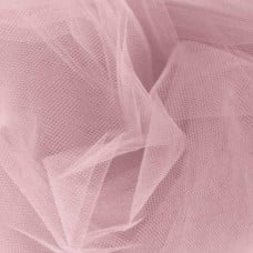 Brides and Ballet Nylon Tulle Fabric in Rosette Pink 265cm Width Fabric Traders
