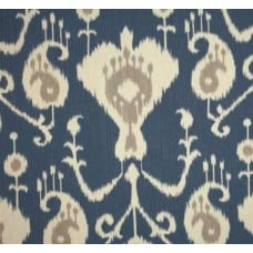 Ikat Java in Yacht Blue Home Decor Cotton Fabric Fabric Traders